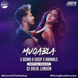 Muqabla x Bomb A Drop x Animals Mashup Poster